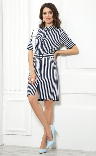 Dress Sale #1038 sinij/belyj