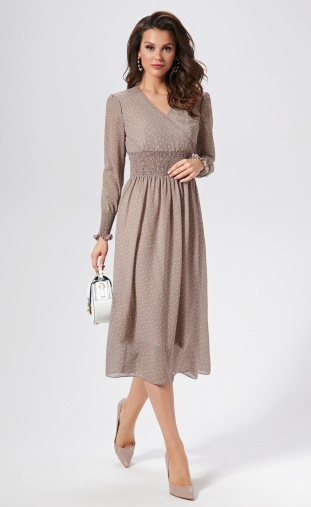 Dress AYZE #1396 kapuchino