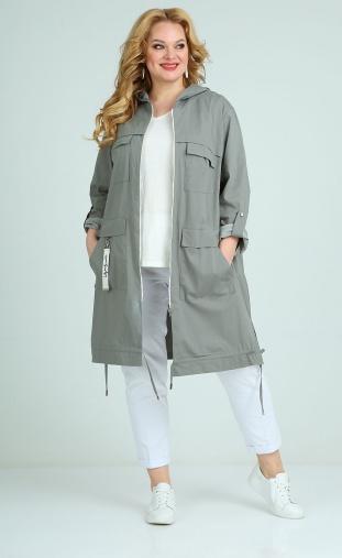 Raincoat Ollsy #01543 sero-zelenyj