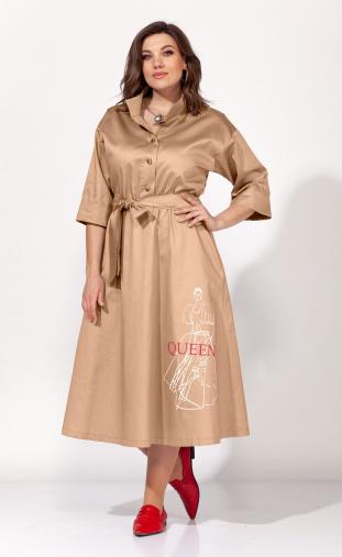 Dress Elletto #1818 bezh
