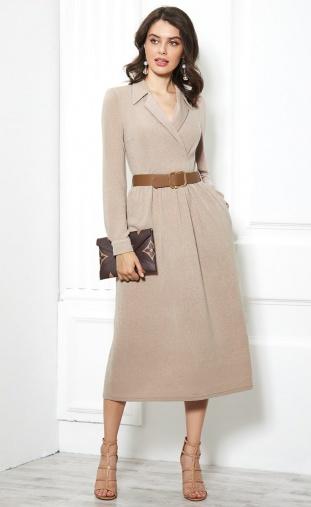 Dress Sale #1924 bezhevyj