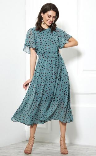 Dress AYZE #1948 biryuza