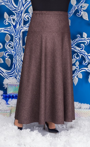 Skirt Ninele #0216 korichn odnoton
