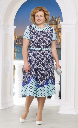 Dress Ninele #5522 sinie cv