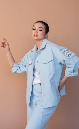 Jacket Sale #649 goluboj