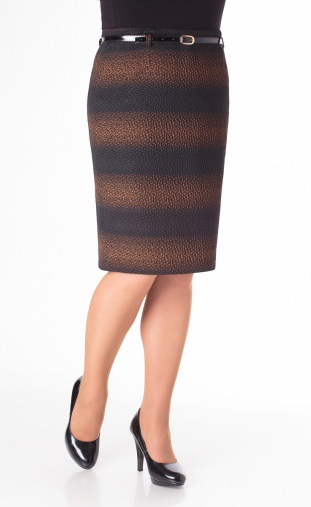 Skirt Elite Moda #3314 korichn