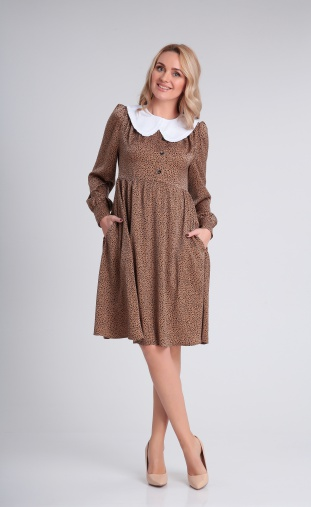 Dress Andrea Fashion #AF-121 karamel