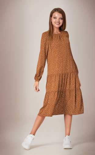 Dress Sale #AF-28/3 gorox kofejnyj