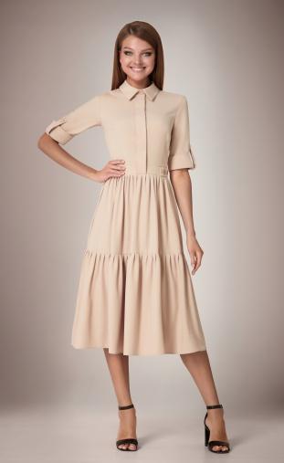 Dress Andrea Fashion #AF-31 bezh