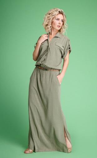 Dress Euromoda #107-1 xaki