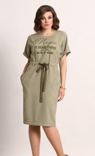 Dress Galean Style #567 xaki